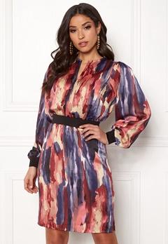 Y.A.S Arty LS Dress Dark Sapphire Bubbleroom.dk
