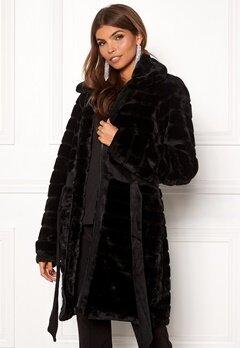 Y.A.S Asala Faux Fur Coat Black Bubbleroom.dk