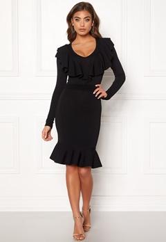Y.A.S Aya LS Knit Dress Black Bubbleroom.dk