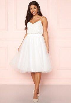 Y.A.S Ballet Midi Skirt Star White Bubbleroom.dk