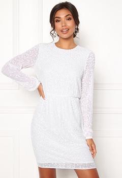 Y.A.S Beada LS Dress Star White Bubbleroom.dk