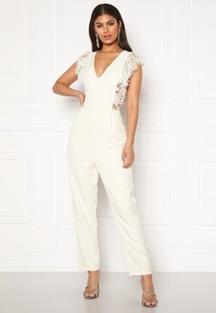 Y.A.S Beatrice SL Ankle Jumpsuit Star White Bubbleroom.dk