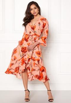 Y.A.S Cacco Wrap Dress Rose Smoke Bubbleroom.dk