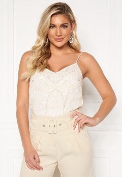 Y.A.S Charlene Strap Top Star White Bubbleroom.dk