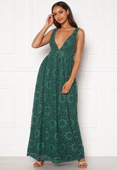 Y.A.S Cheshire SL Maxi Dress Evergreen Bubbleroom.dk