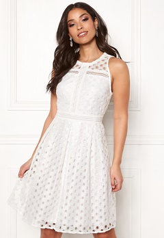 Y.A.S Circle S/L Dress Star White Bubbleroom.dk
