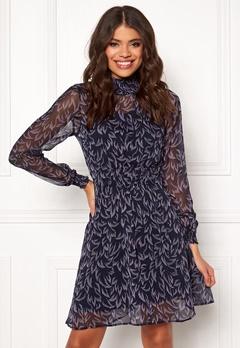 Y.A.S Coralla LS Dress Dark Sapphire Bubbleroom.dk
