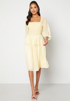 Y.A.S Deanna 3/4 Dress Transparent Yellow Bubbleroom.dk
