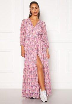 Y.A.S Esmeralda Wrap 3/4 Maxi Dress Cradle Pink Bubbleroom.dk