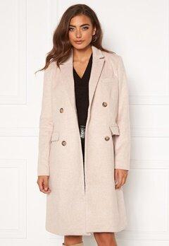 Y.A.S Essa Wool Coat Whisper Pink Bubbleroom.dk