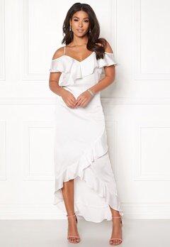 Y.A.S Fielle Off Shoulder Dress Star White Bubbleroom.dk