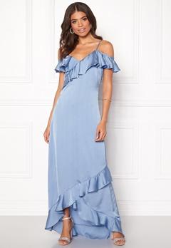 Y.A.S Fielle Off Shoulder Maxi Dress Delia Robbia Blue Bubbleroom.dk