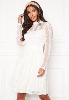 Y.A.S Helena LS Dress Star White Bubbleroom.dk