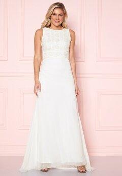 Y.A.S Ibylla SL Train Dress Star White Bubbleroom.dk