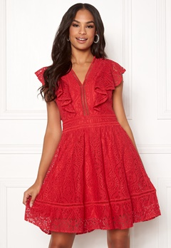 Y.A.S Malma Lace Dress High Risk Red Bubbleroom.dk