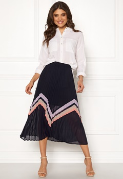 Y.A.S Milda Pleated Skirt Night Sky Bubbleroom.dk