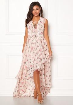 Y.A.S Most S/L Maxi Dress Star White Bubbleroom.dk