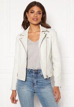 Y.A.S Philippa Biker Jacket Star White Bubbleroom.dk