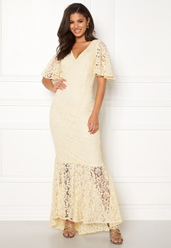 Y.A.S Radic Lace Maxi Dress Antique White Bubbleroom.dk