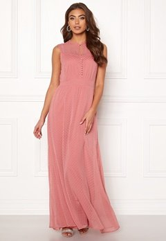 Y.A.S Sienna S/L Dress Dusty Rose Bubbleroom.dk