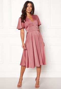 Y.A.S Valley S/S Dress Rose Smoke Bubbleroom.dk
