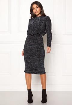 Y.A.S Yenna Lurex L/S Dress Black Bubbleroom.dk
