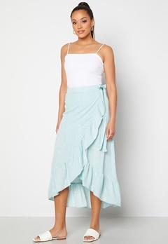 Y.A.S Yvonne HW Long Wrap Skirt Star White Yvonne Pr Bubbleroom.dk