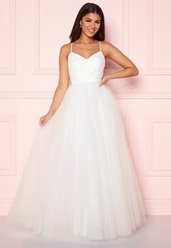 Y.A.S Zetia Strap Maxi Dress Star White Bubbleroom.dk