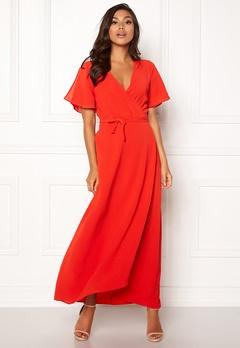 ICHI Zarun Dress 16254 Aurora Red Bubbleroom.dk