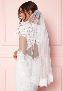 Zetterberg Couture Nour Veil Short 90 cm Ivory Bubbleroom.dk