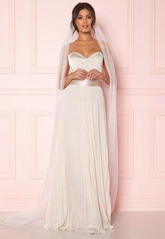 Zetterberg Couture Plain Veil Long 250 cm Ivory Bubbleroom.dk