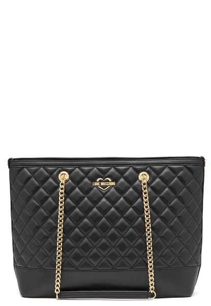 Love Moschino Bag With Chain 00B Black/Gold Bubbleroom.dk