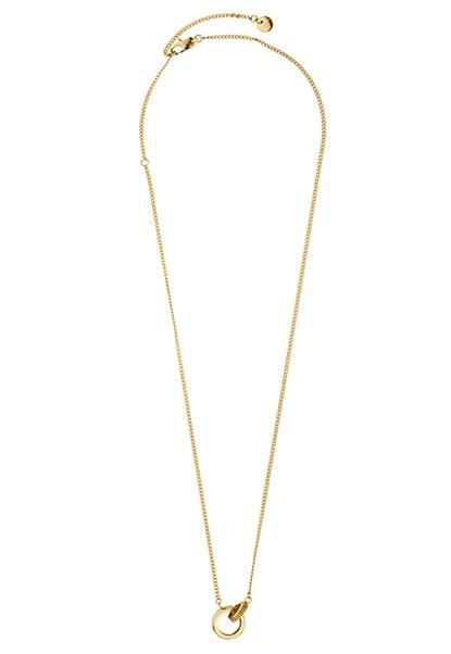 Dyrberg/Kern Ezell Shiny Necklace Gold Bubbleroom.dk