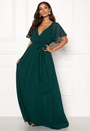 Sleeve Chiffon Maxi Dress