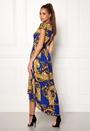 Printed Cap Maxi Dress