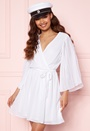 Fayme pleated sleeve dress