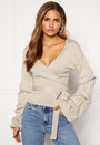 Maggie knitted wrap top