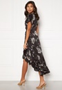 Nadine wrap flounce dress