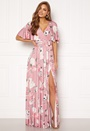 Floral Flutter Sleeve Maxi Dress