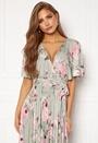 Floral Flutter Sleeve Maxi Dress