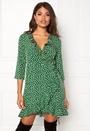 Henna Dot 3/4 Wrap Dress