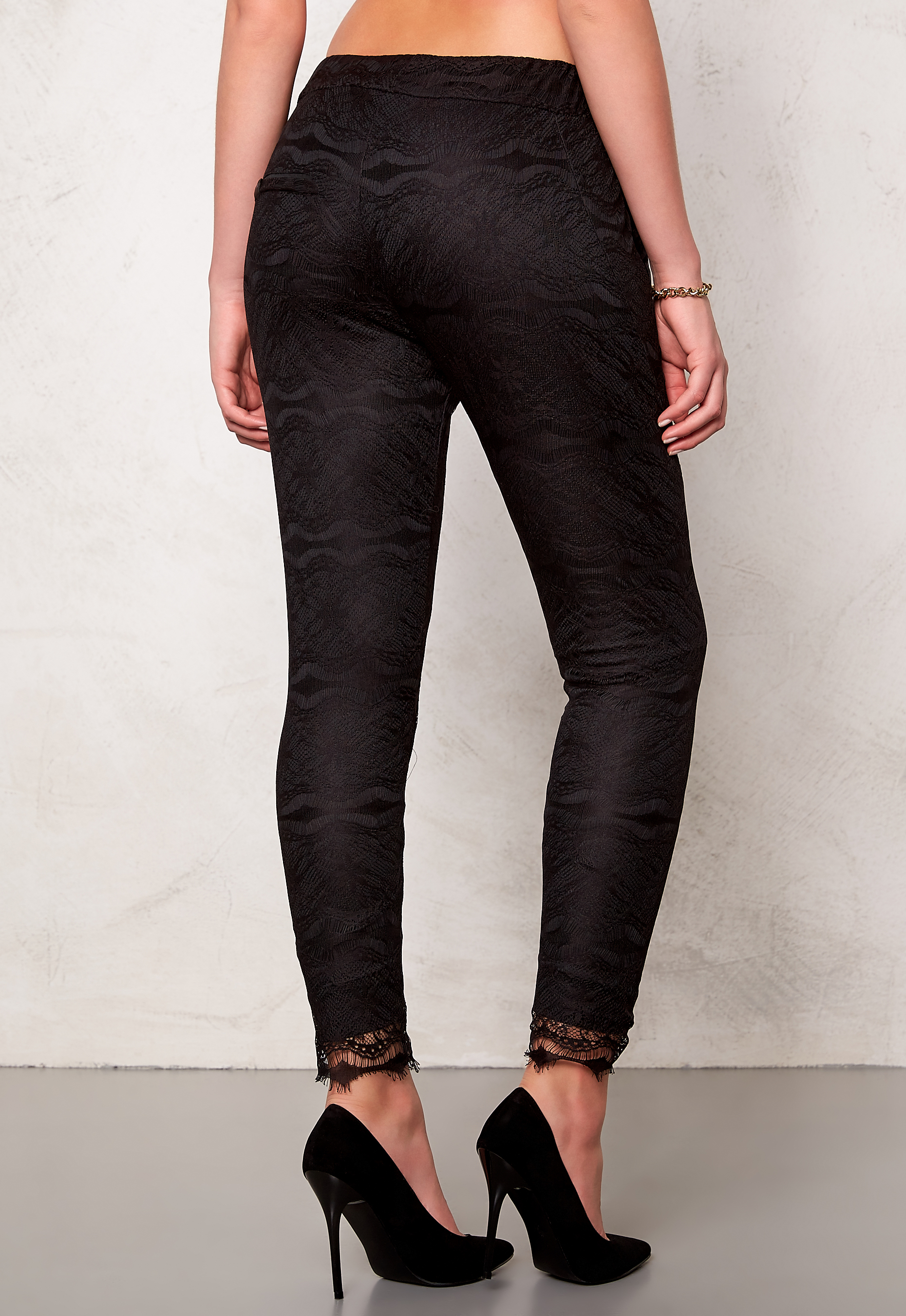 2nd One Miley 070 Pants Black Scallop Bubbleroom