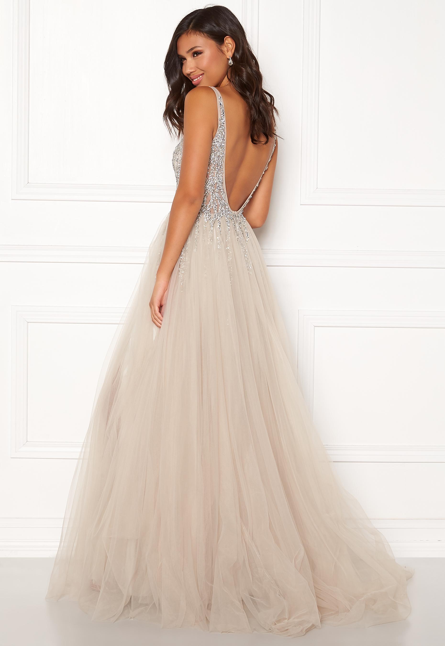 daf303fb Christian Koehlert Sparkling Tulle Dream Dress Ghost Gray - Bubbleroom