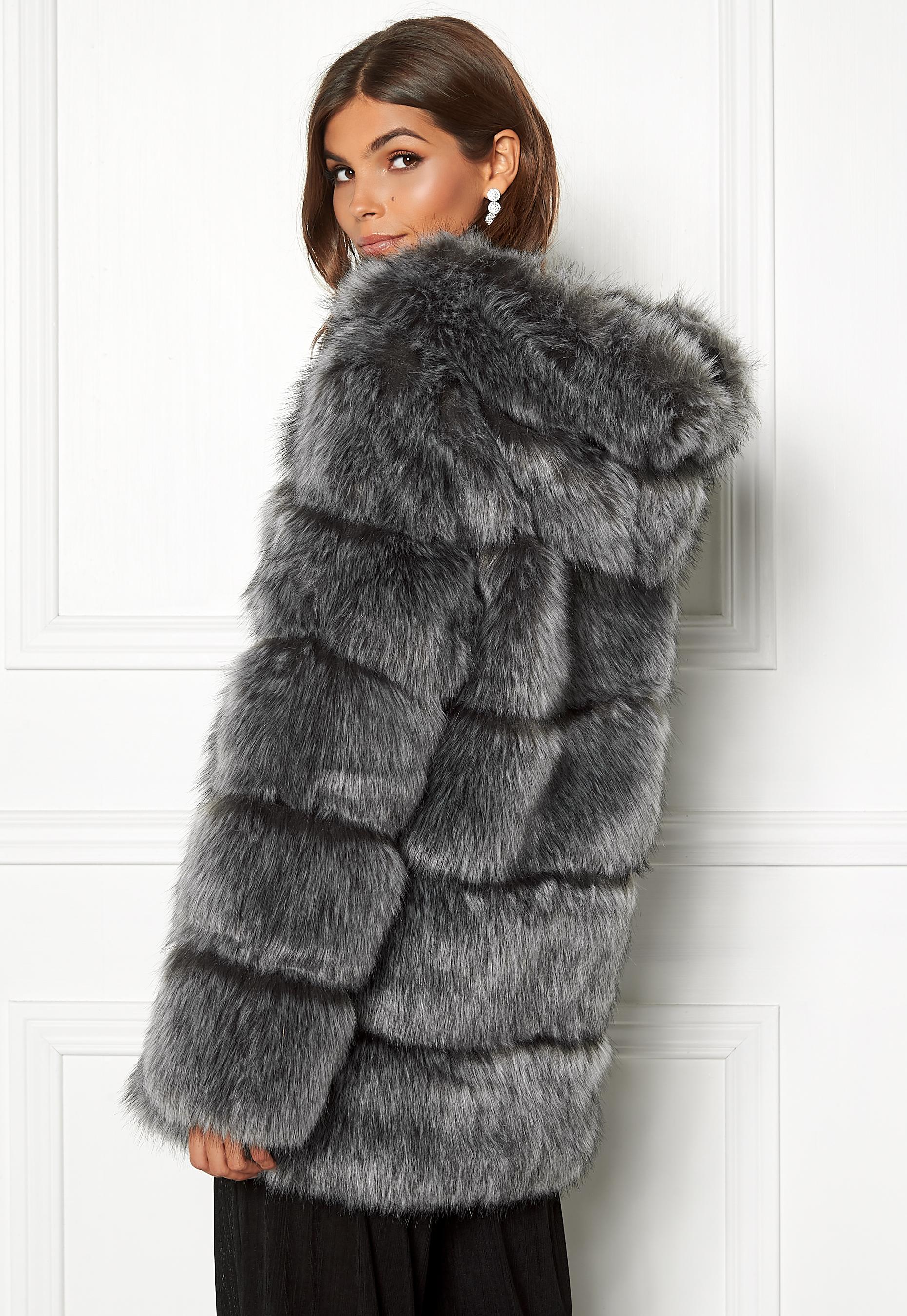 76209a8e AMO Couture Rubens Faux Fur Coat Silver Fox - Bubbleroom