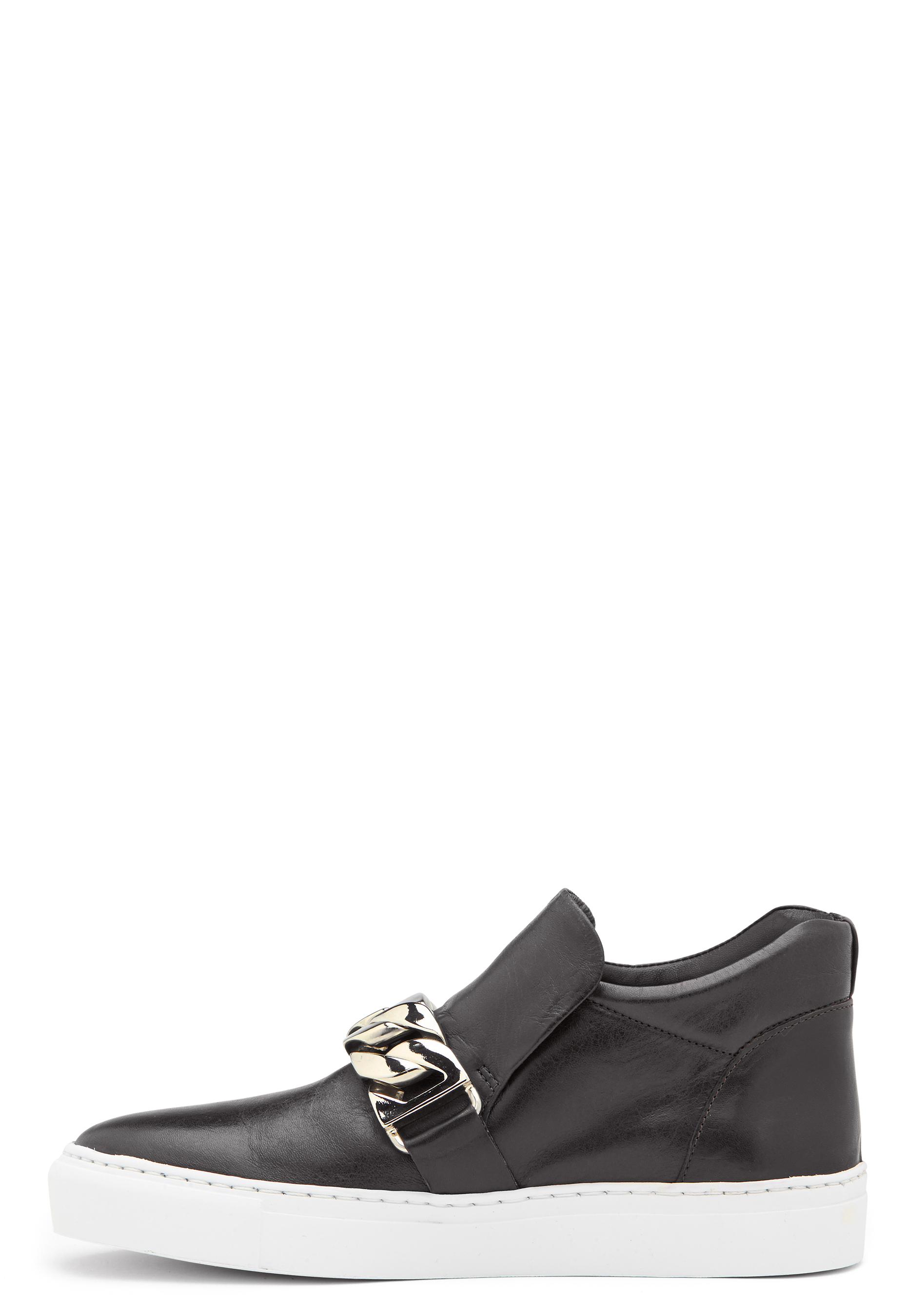 50fef2290a4 Billi Bi Leather Sneakers Black/ Gold - Bubbleroom