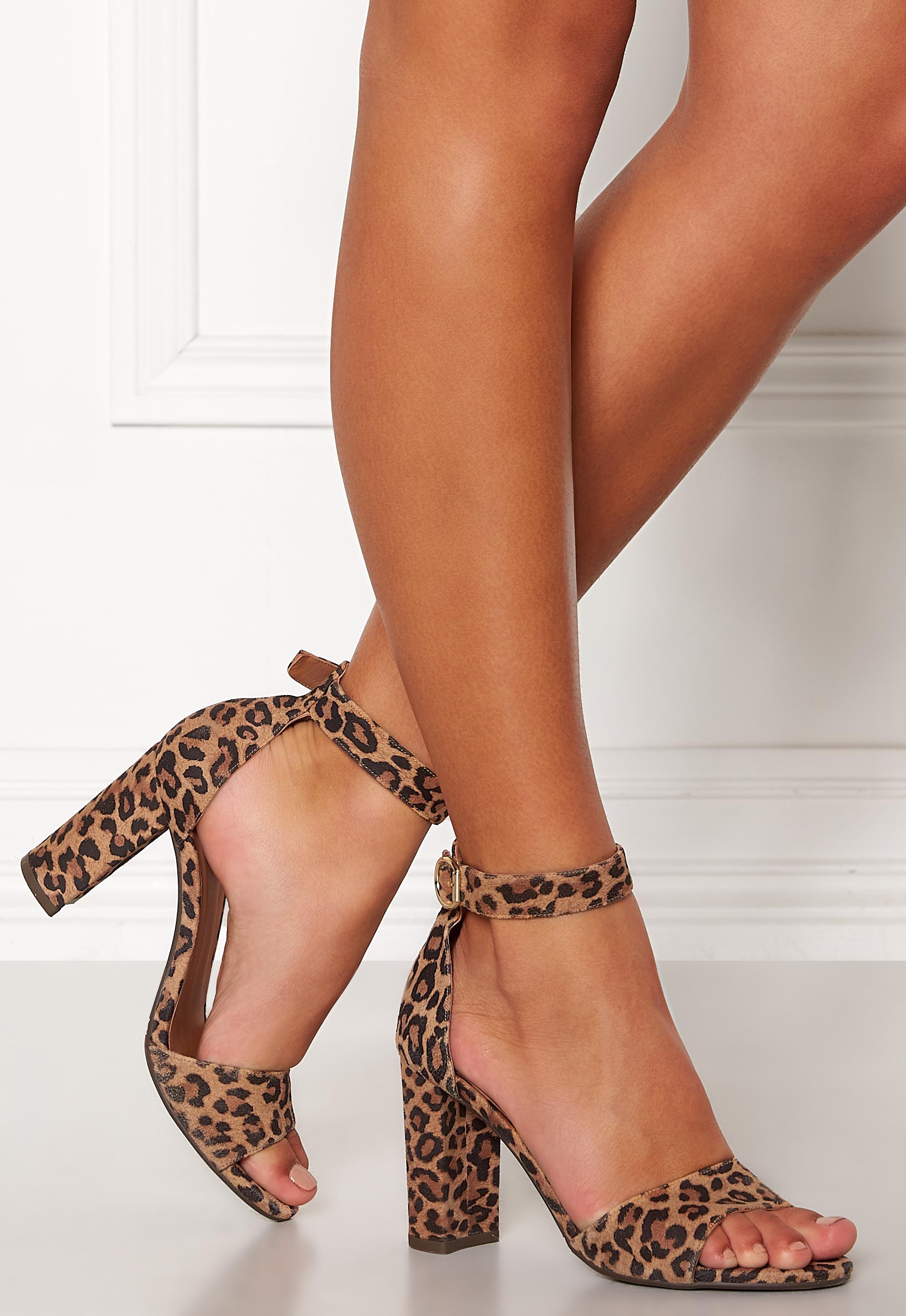 64162dedb4e4 Billi Bi Leopard Suede Sandals Leopard - Bubbleroom