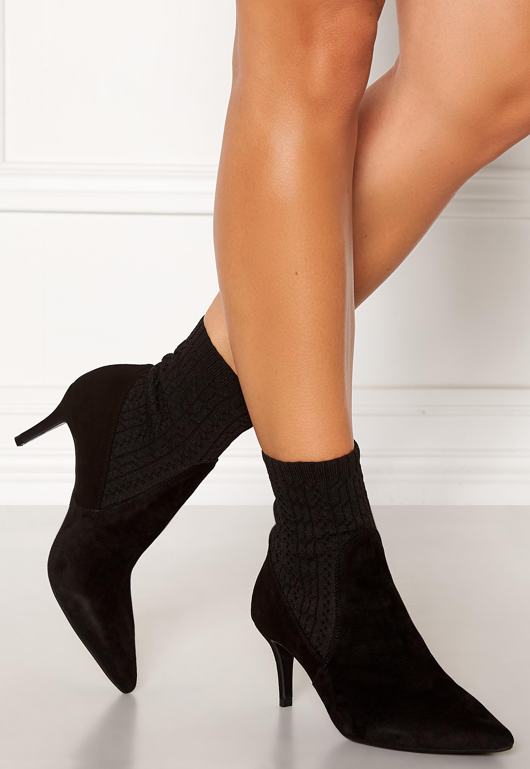 buy billi bi boots, billi bi pumps sko med hæl black suede
