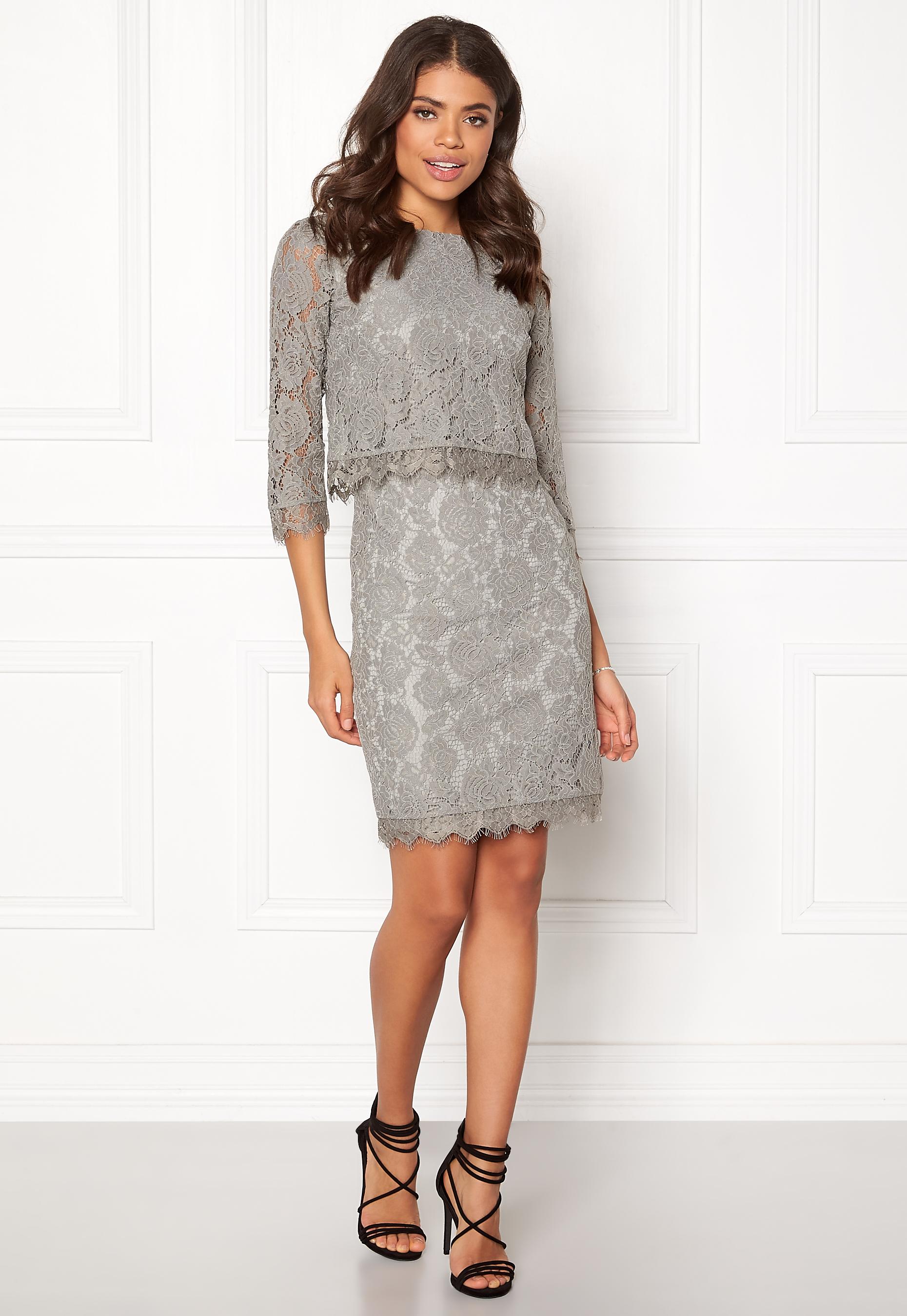 954b1eaf DRY LAKE Malou Dress Light Grey - Bubbleroom
