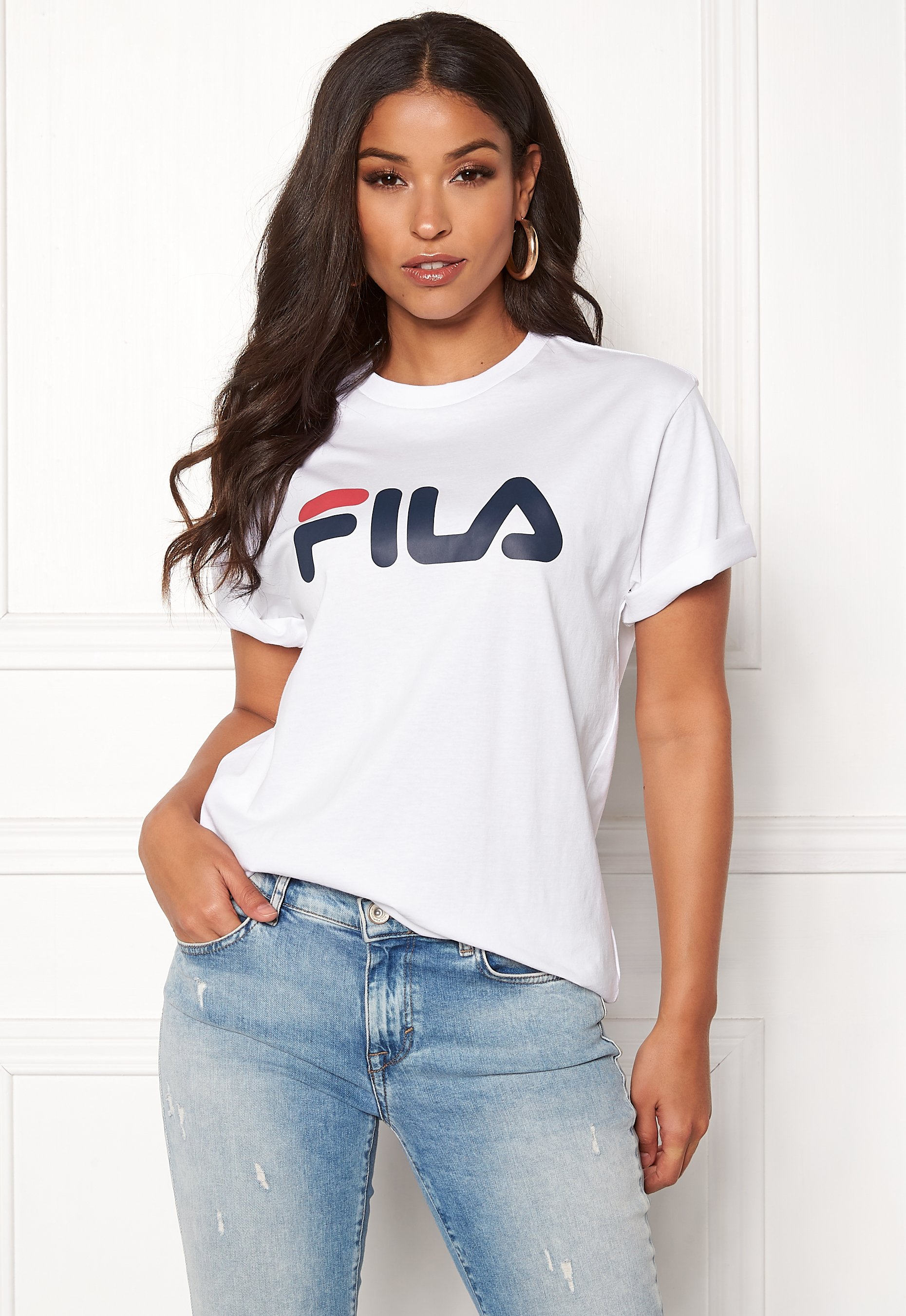 FILA Classic Pure SS Tee Bright White Bubbleroom
