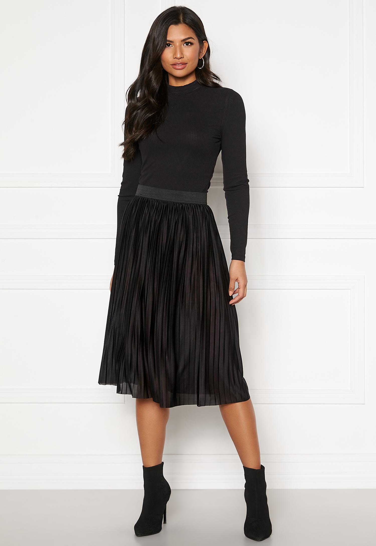 Jacqueline de Yong Aboa Skirt Black Bubbleroom